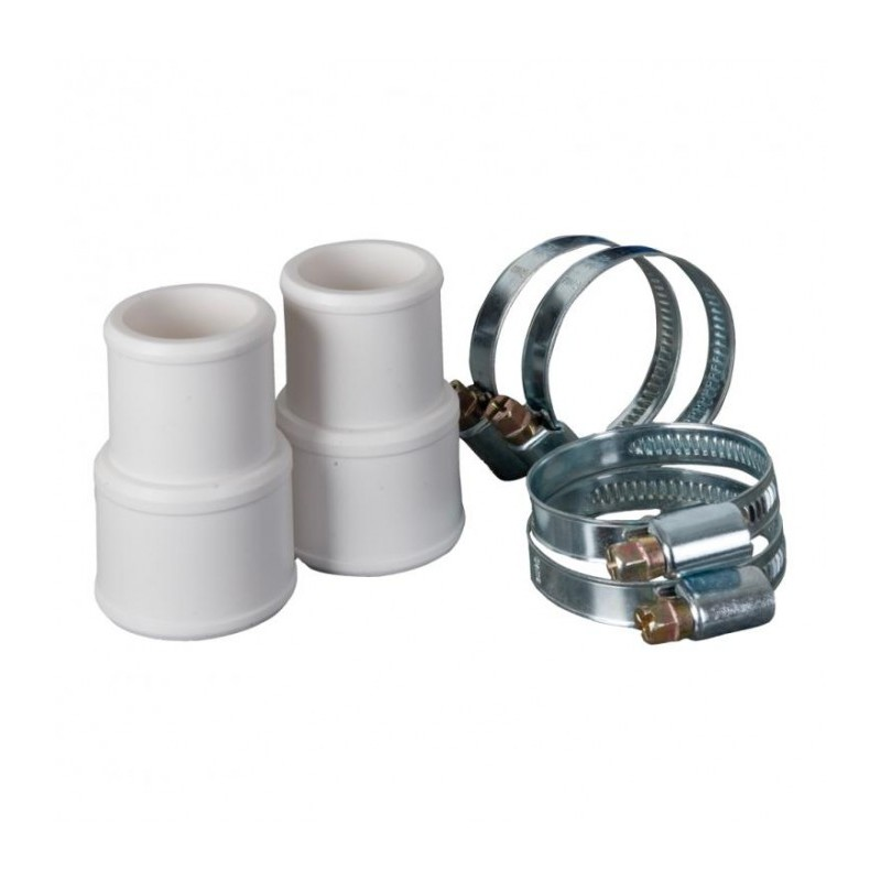 Kit conectores + abrazaderas Ø 38 mm y Ø 32 mm Gre