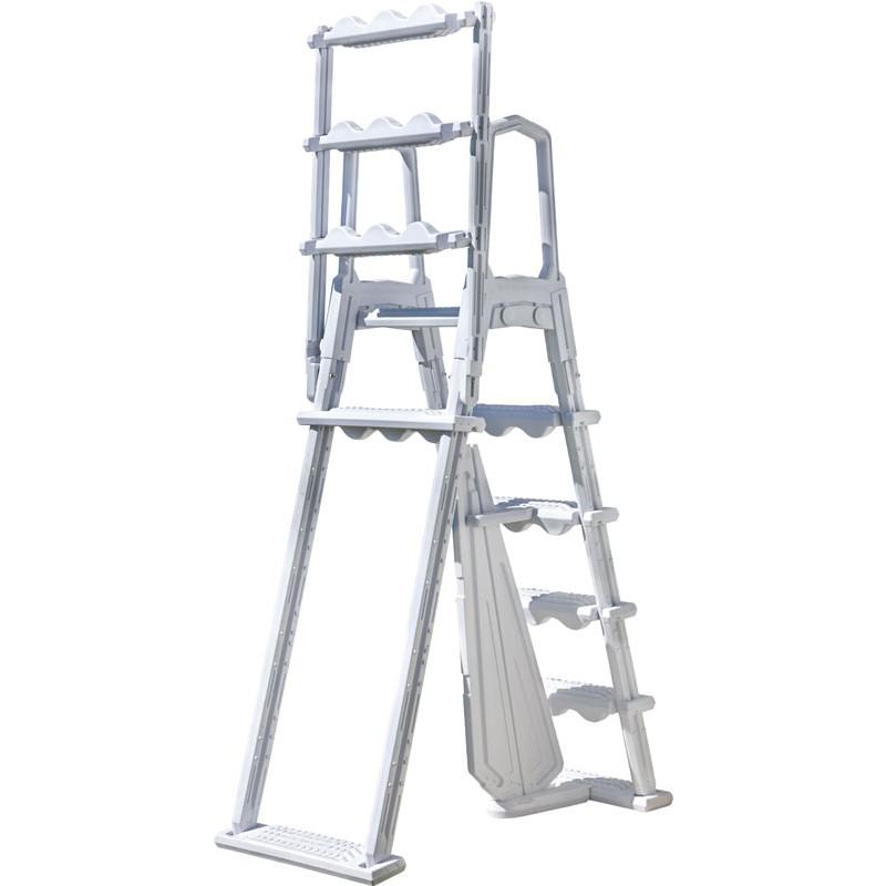 Escalera de seguridad de acero con peldaños desmontables demostración