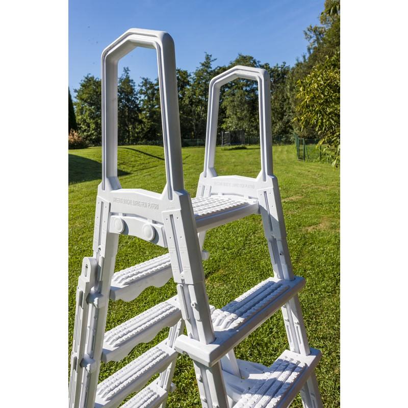 Escalera de seguridad de acero detalles