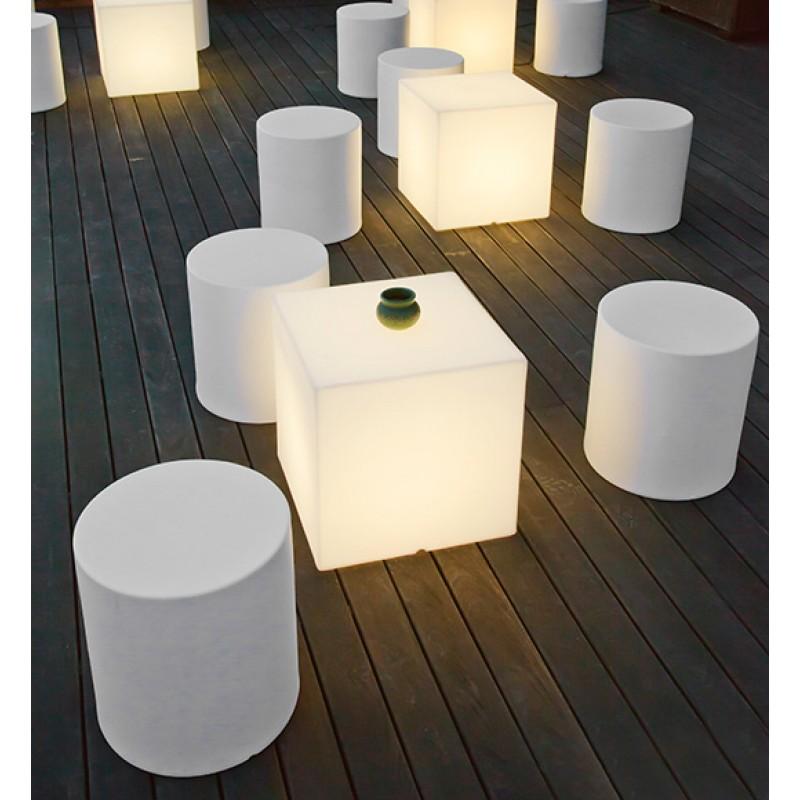 Lámpara Jardín Cuby decoración luz blanca