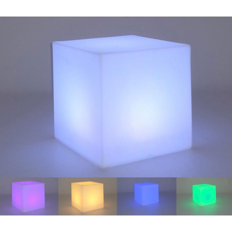 Lámpara Jardín Cuby colores luz LED
