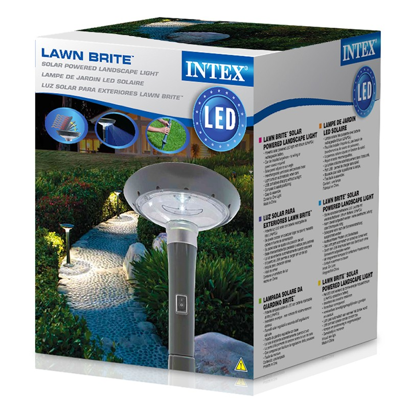 L mpara solar led para jard n intex outlet piscinas - Lampara solar jardin ...