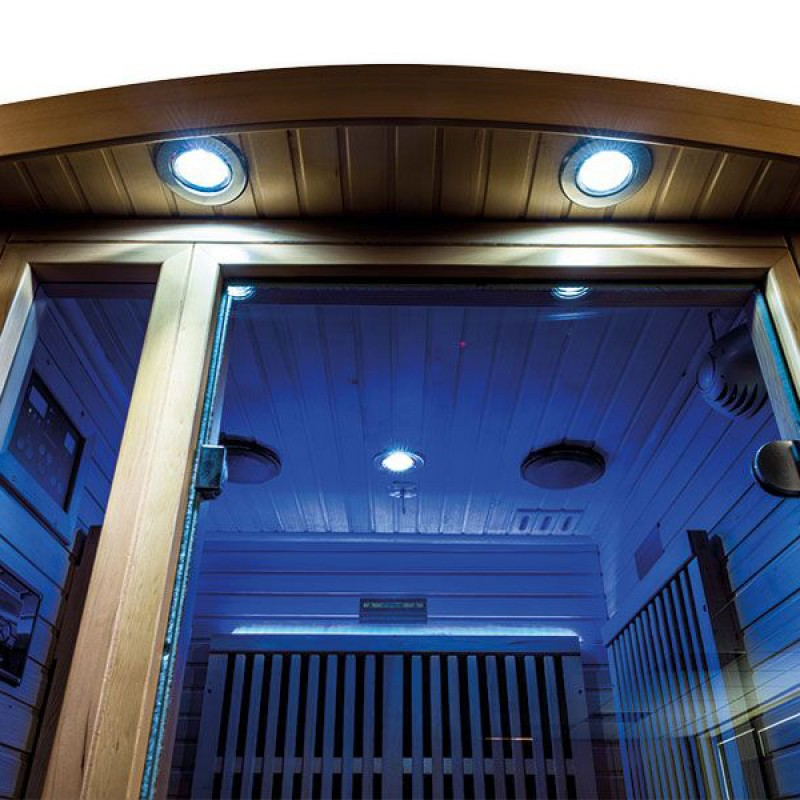 Iluminación azul Sauna infrarrojos Ruby