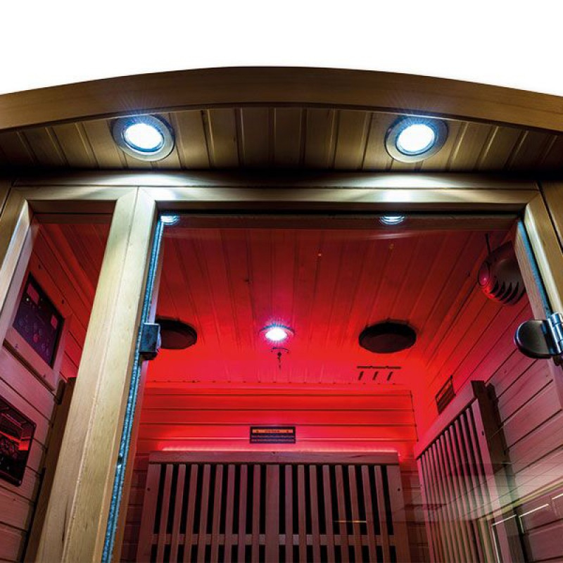 Iluminación rojo Sauna infrarrojos Ruby