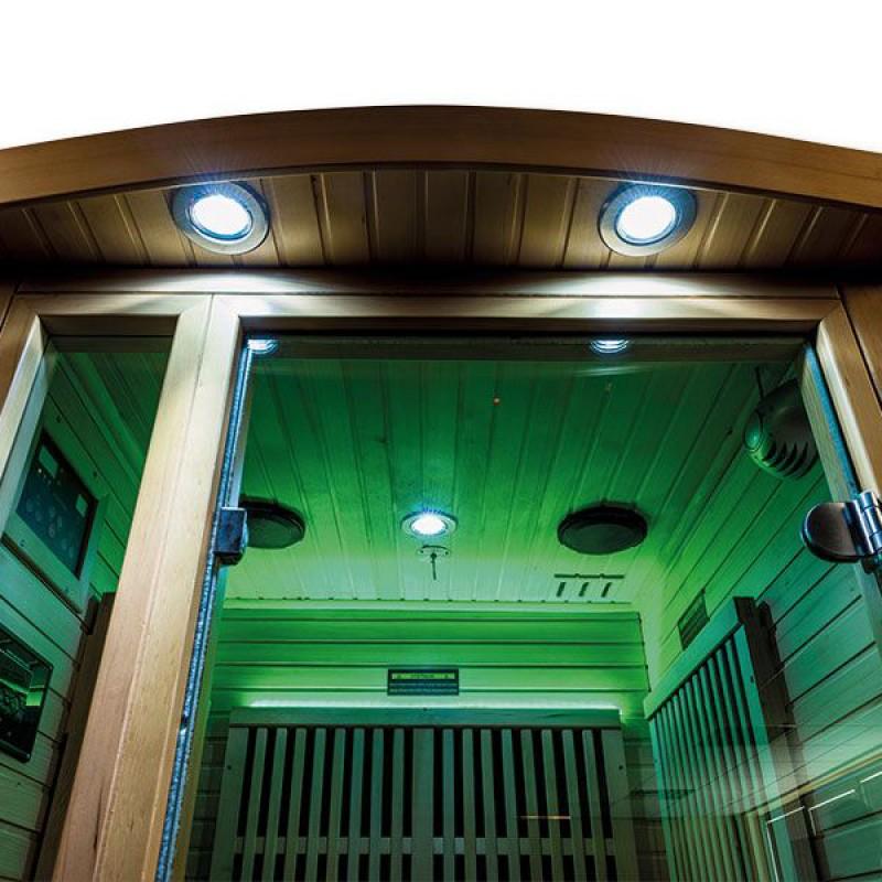 Iluminación verde Sauna infrarrojos Ruby
