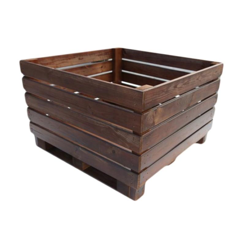 Macetero de Tablas rectangular madera natural Madelea