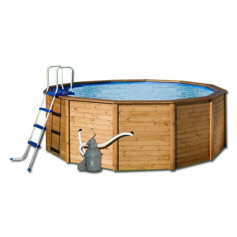 Instalaci n de piscina de madera 390 x 120 outlet piscinas - Instalacion piscina ...