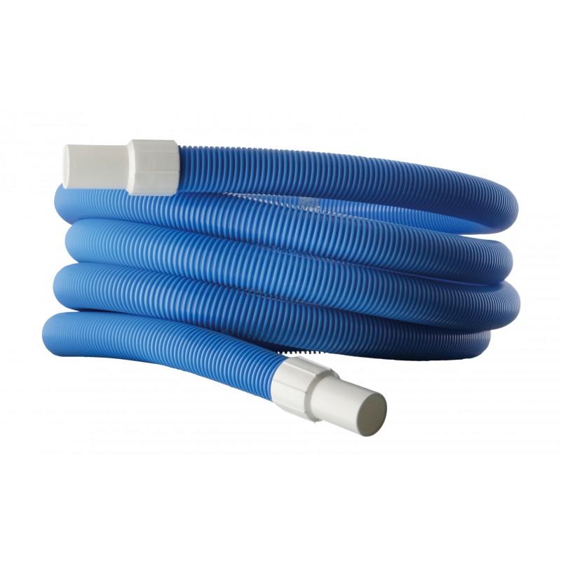 Manguera para limpiafondos azul flexible y resistente