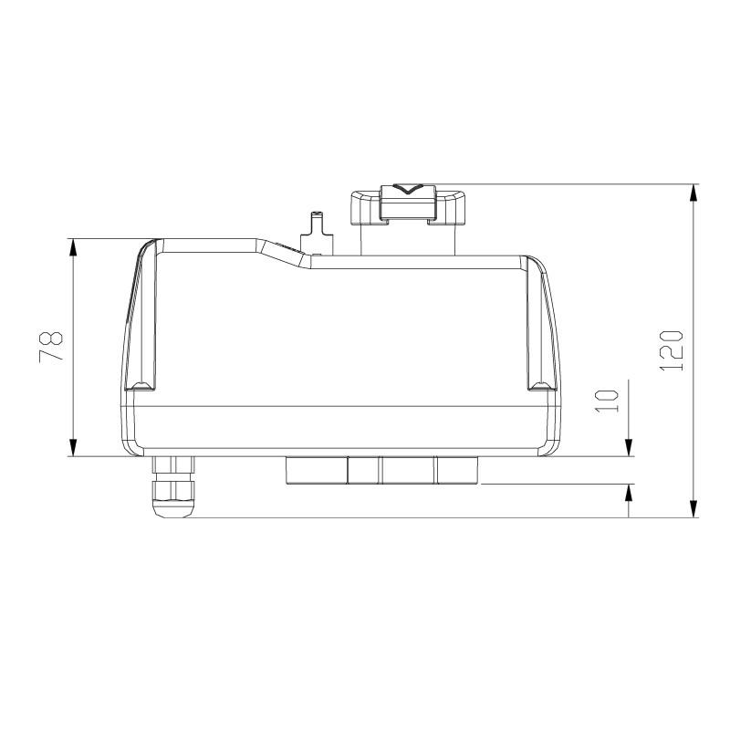 Medidas válvula distribuidora de 3 vías PVC automático