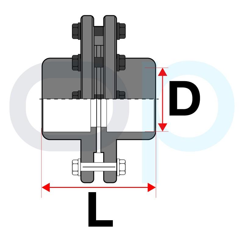 Medidas Kit de enlace con bridas PVC