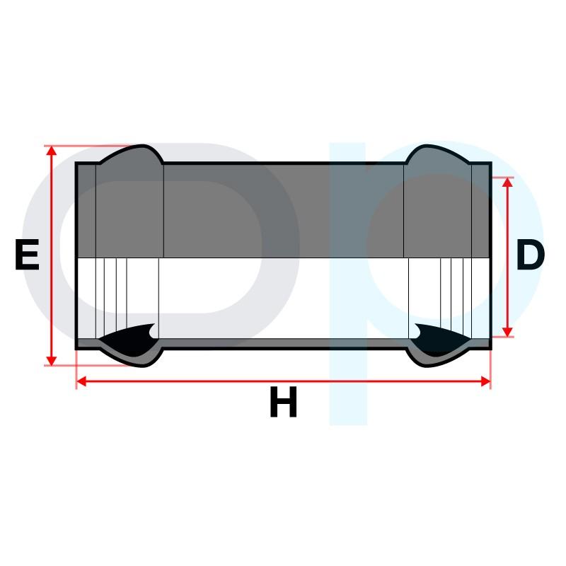 Medidas Manguito unión junta elástica PVC
