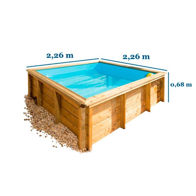 Medidas piscina madera maciza Baby Junior