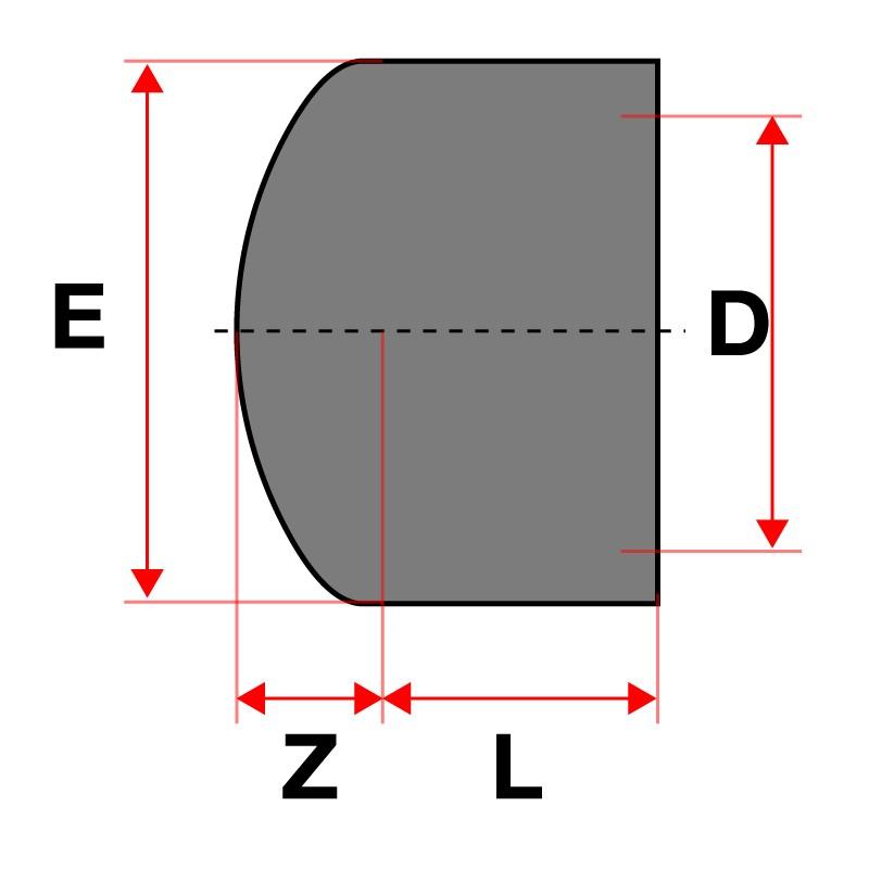 Medidas Tapón PVC Cepex
