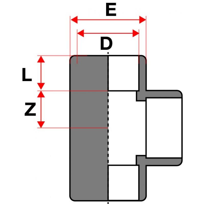Medidas Te de 90° PVC Cepex