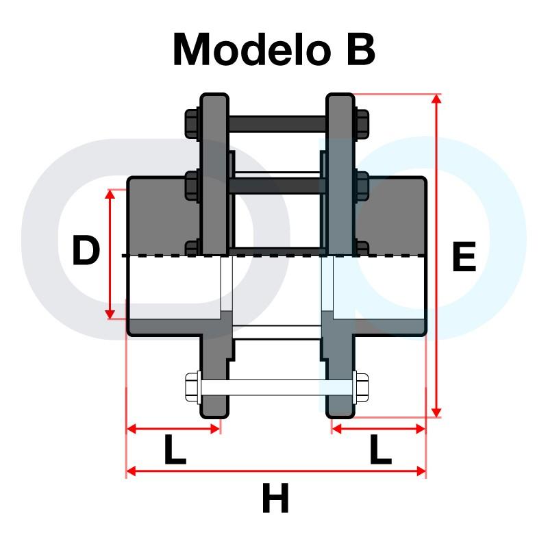 Medidas Visor de líquido encolar PVC Modula B