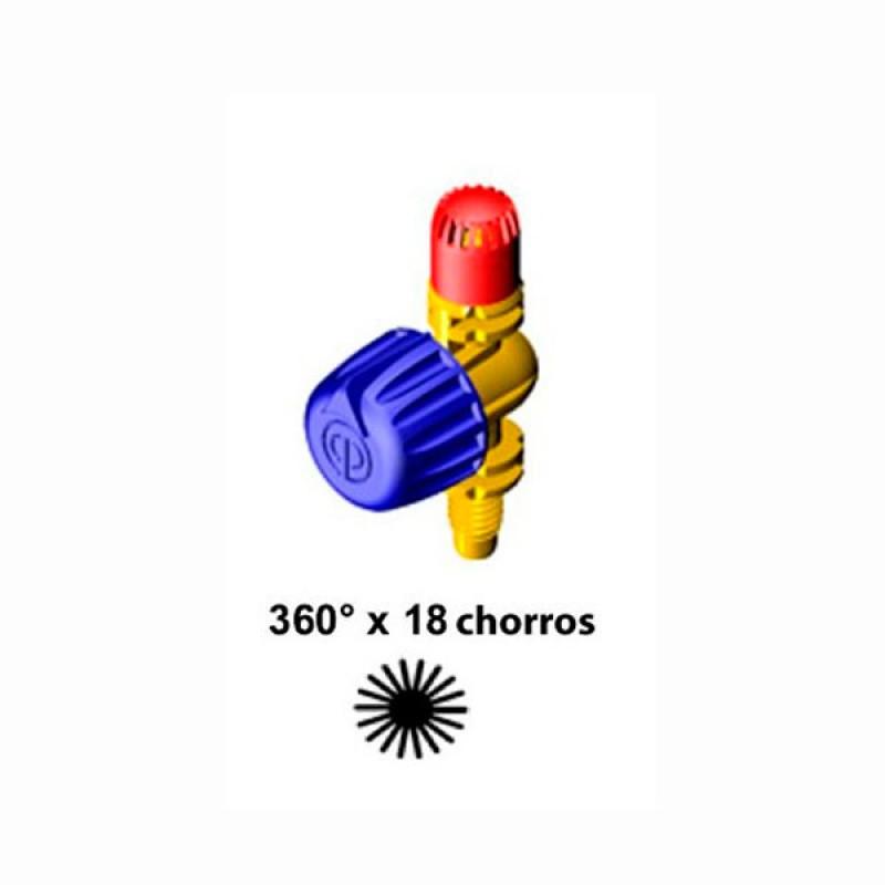 Microdifusor ajustable Rosca microrriego 360º