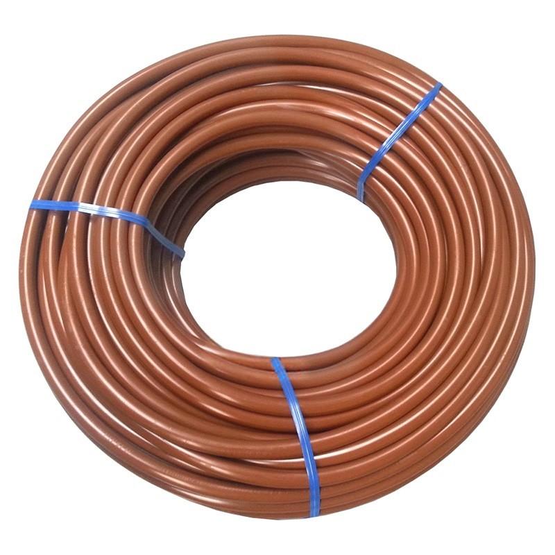 Microtubo flexible riego goteo marrón 6x4 mm