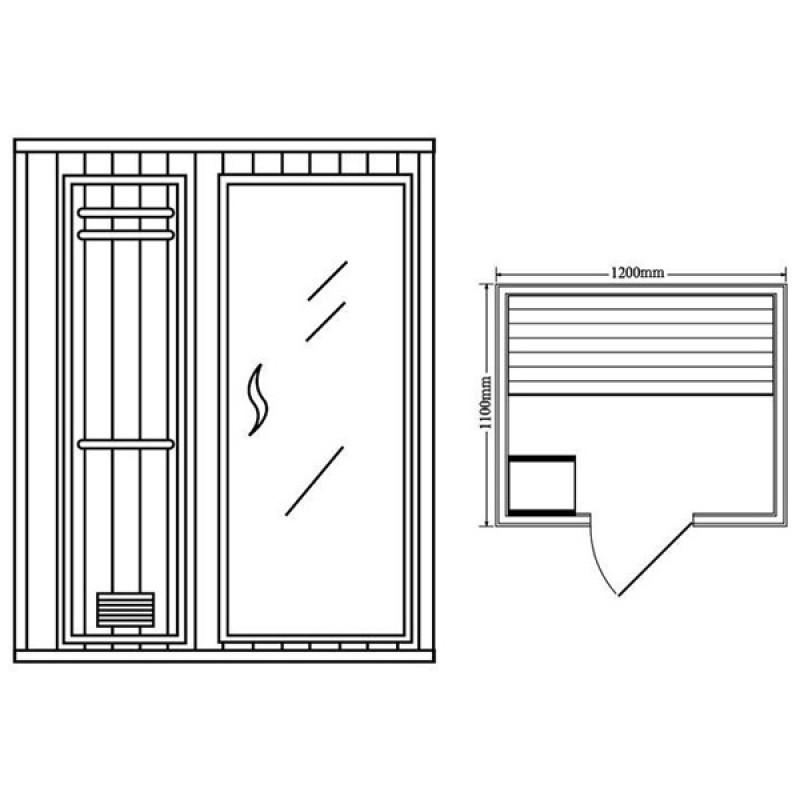 Sauna de Vapor Milan 2 Personas