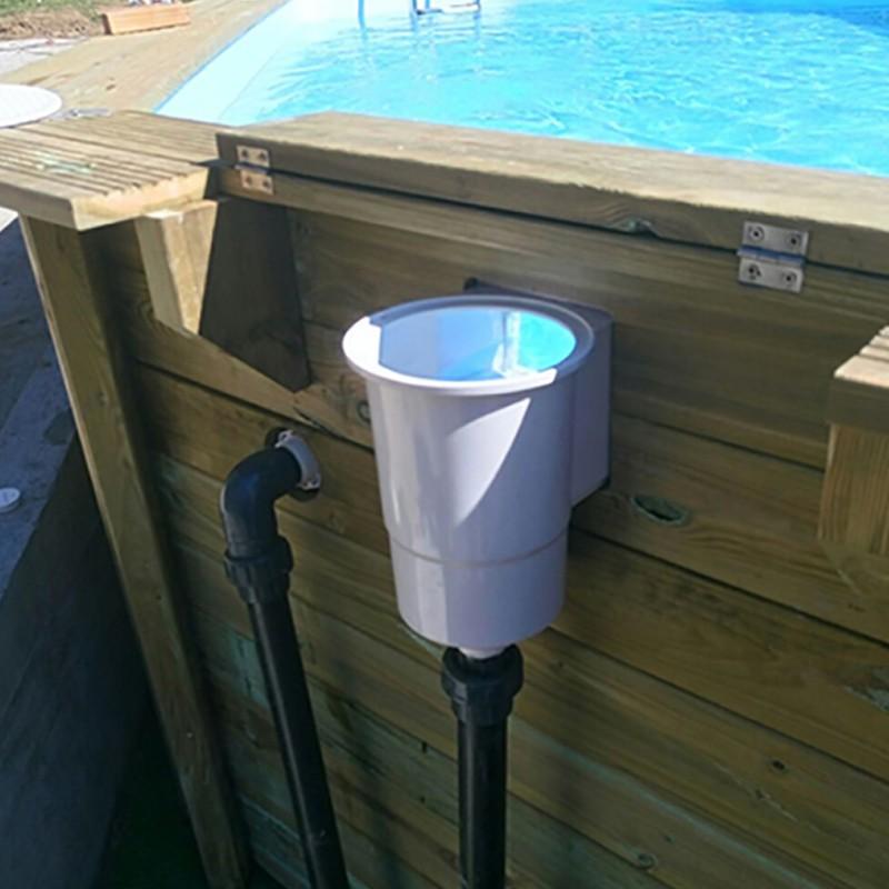 Skimmer colocado Piscina de madera Gre Sunbay Carra