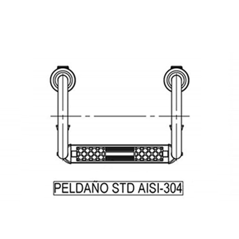 Plano dibujo del peldaño Standard