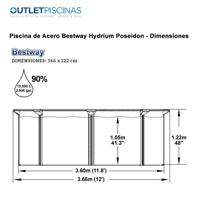 Dimensiones Piscina Bestway Hydrium Poseidon