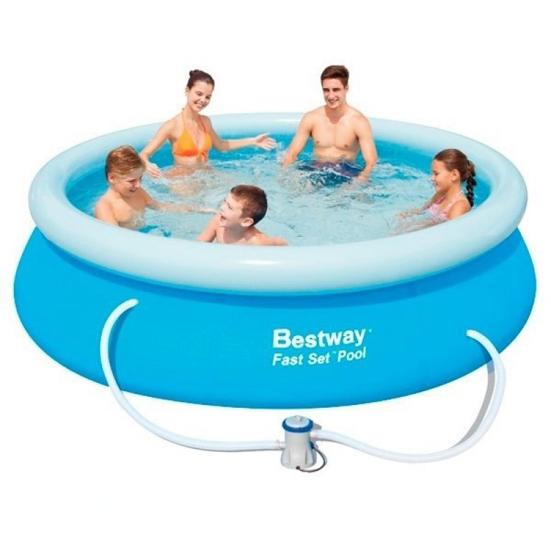 Piscina hinchable bestway fast set 305x76 outlet piscinas for Piscina bestway