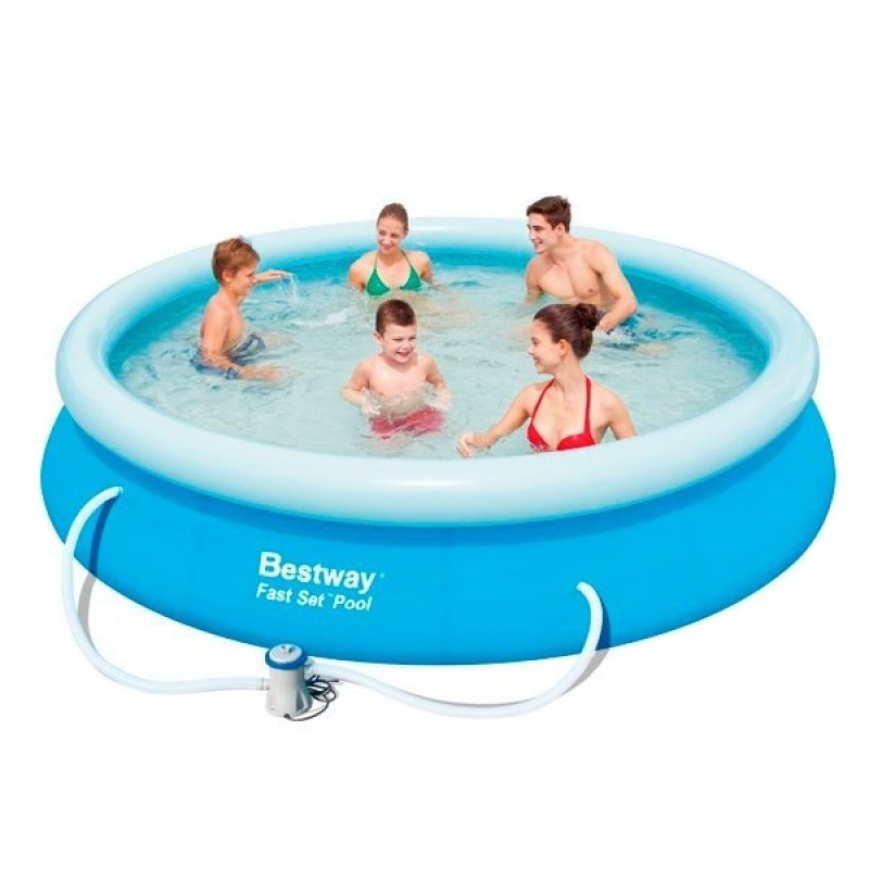 Piscina hinchable bestway fast set 366x76 outlet piscinas for Depuradora piscina