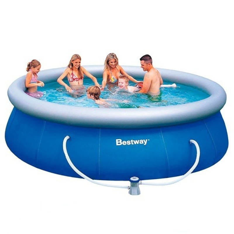 Piscina hinchable bestway fast set 366x91 outlet piscinas for Amazon piscina