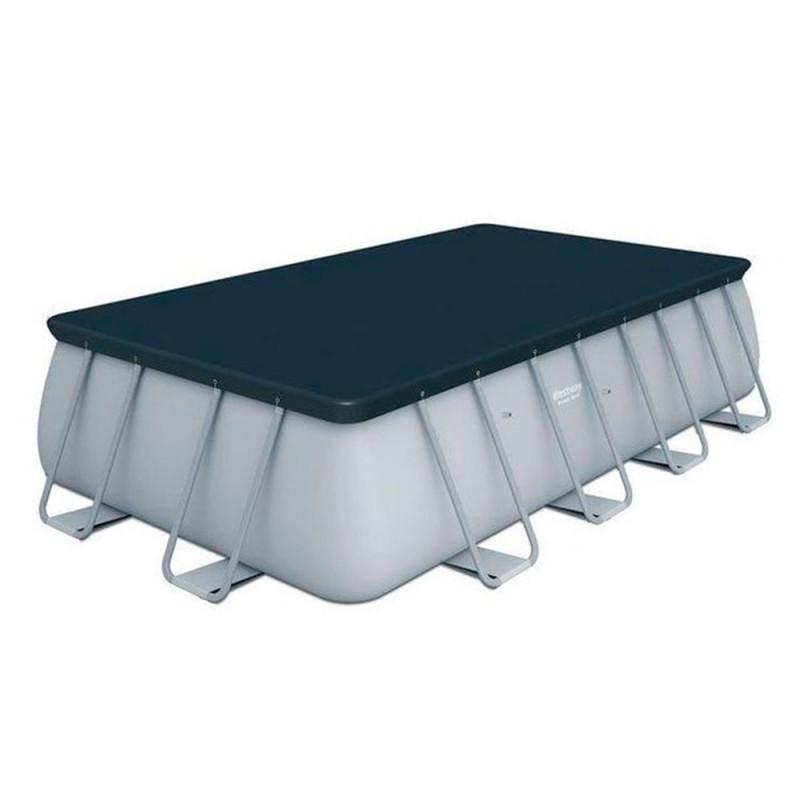 Piscina rectangular Power Steel 549 x 274 x 122 cm rattan cobertor