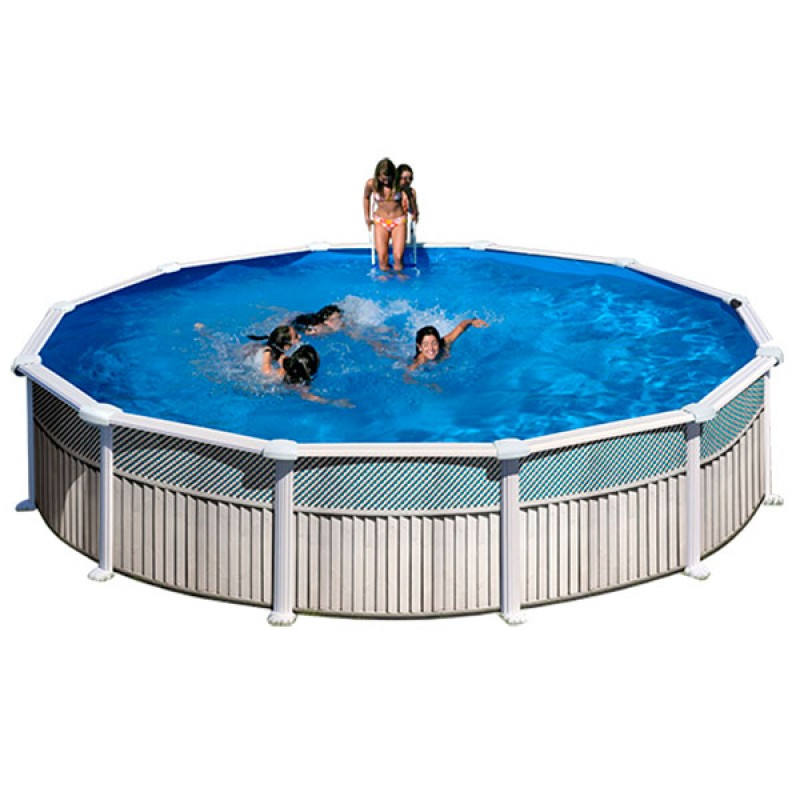 Piscina acero gre capri circular kit350c outlet piscinas for Oulet piscinas