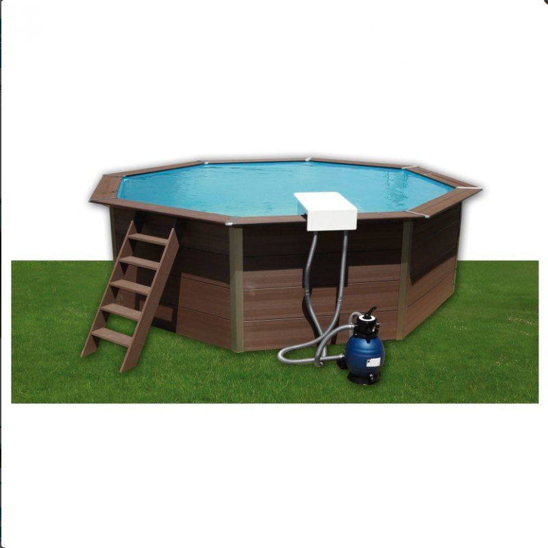 Piscina de madera composite toi outlet piscinas for Piscina prefabricada madera