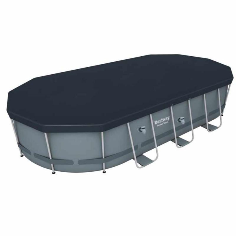 Piscina Power Steel Oval 549 x 274 x 122 cm cobertor