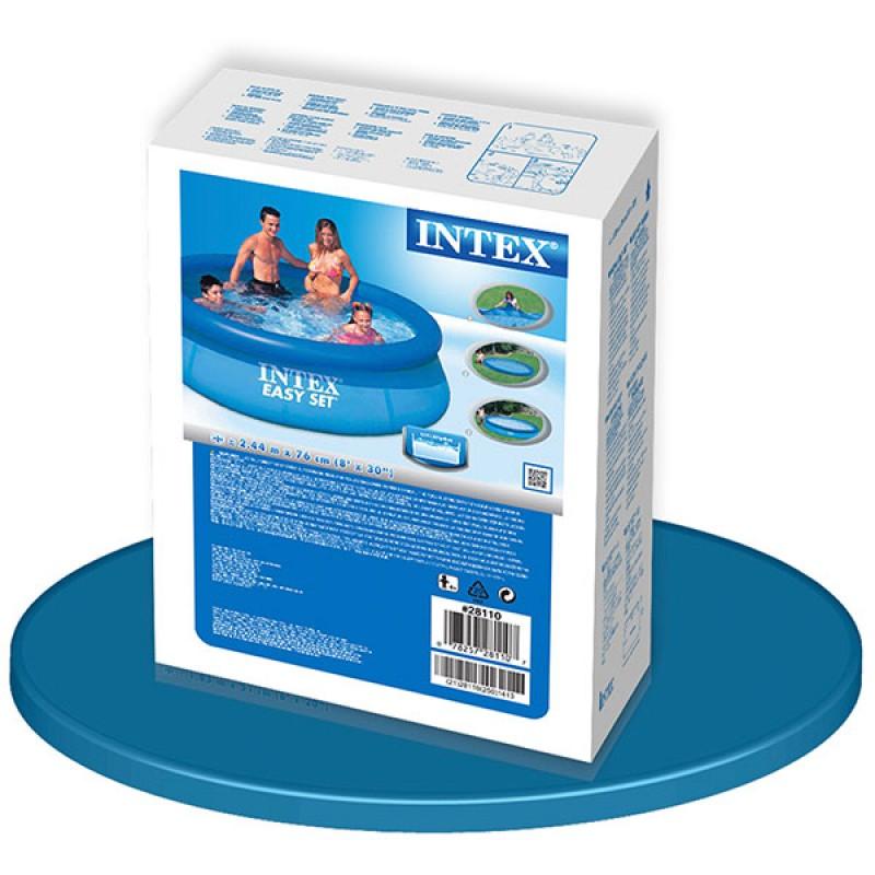 Piscina Easy Set Intex Ø 244 x 76 caja
