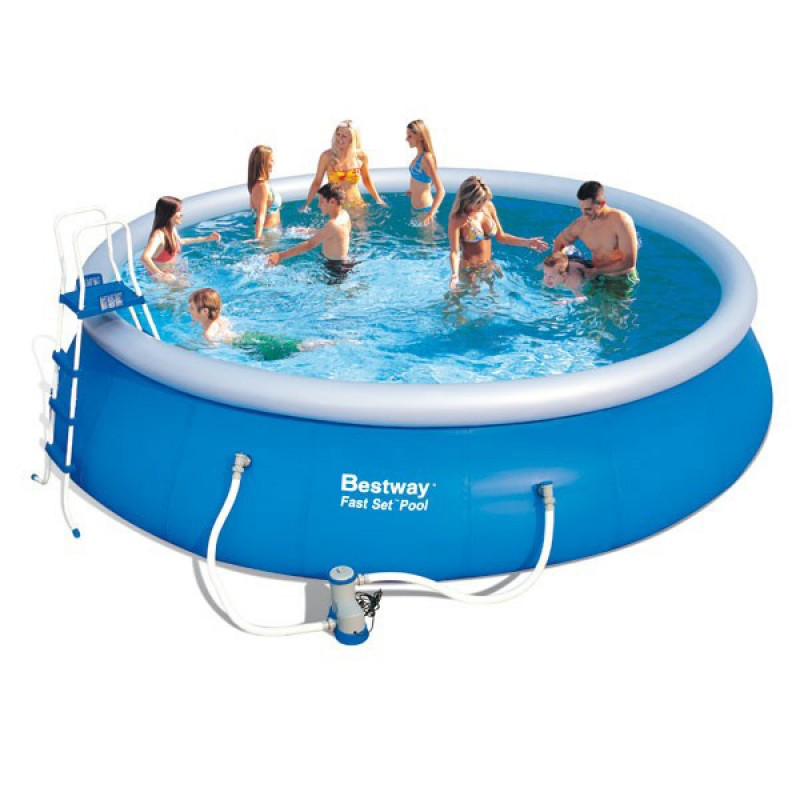 Piscina hinchable bestway fast set 549x122 outlet piscinas for Oulet piscinas