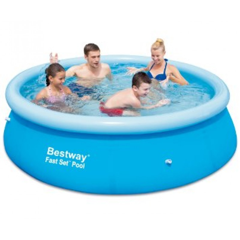 piscina hinchable bestway fast set 244x66 outlet piscinas