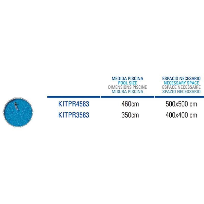 Piscina Acero Azores Circular Gre espacio