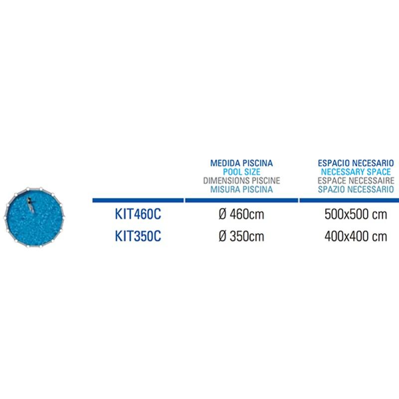Piscina Gre de Acero Capri Circular - Espacio Necesario