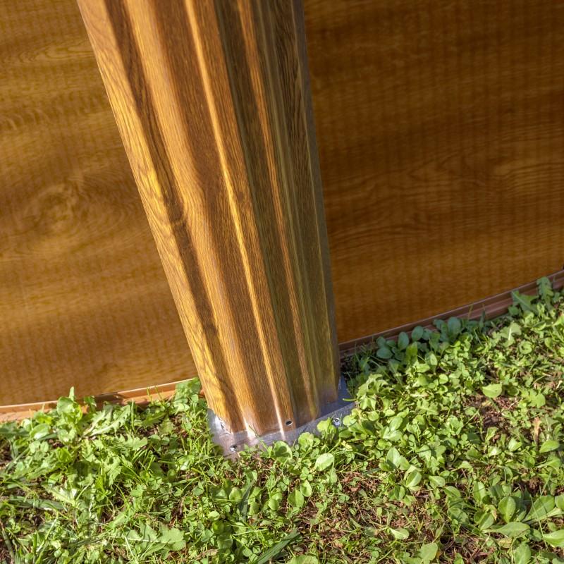 Pata Piscina desmontable Gre Sicilia madera