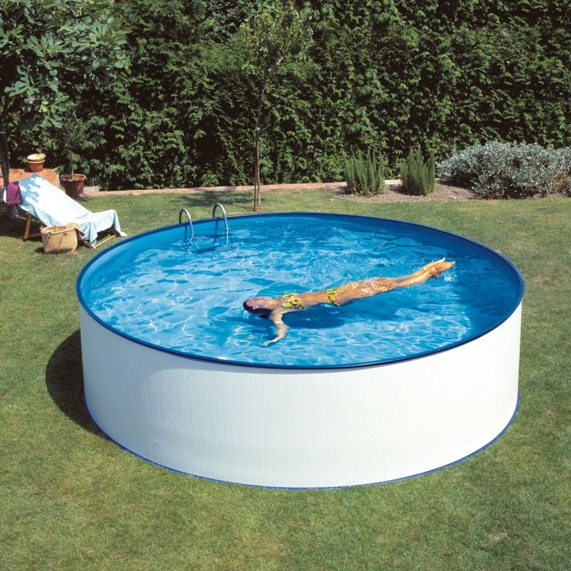 Piscina Splasher 3,50 x 1,20 m y skimmer filtrante 2m3/h - KITPR3550E