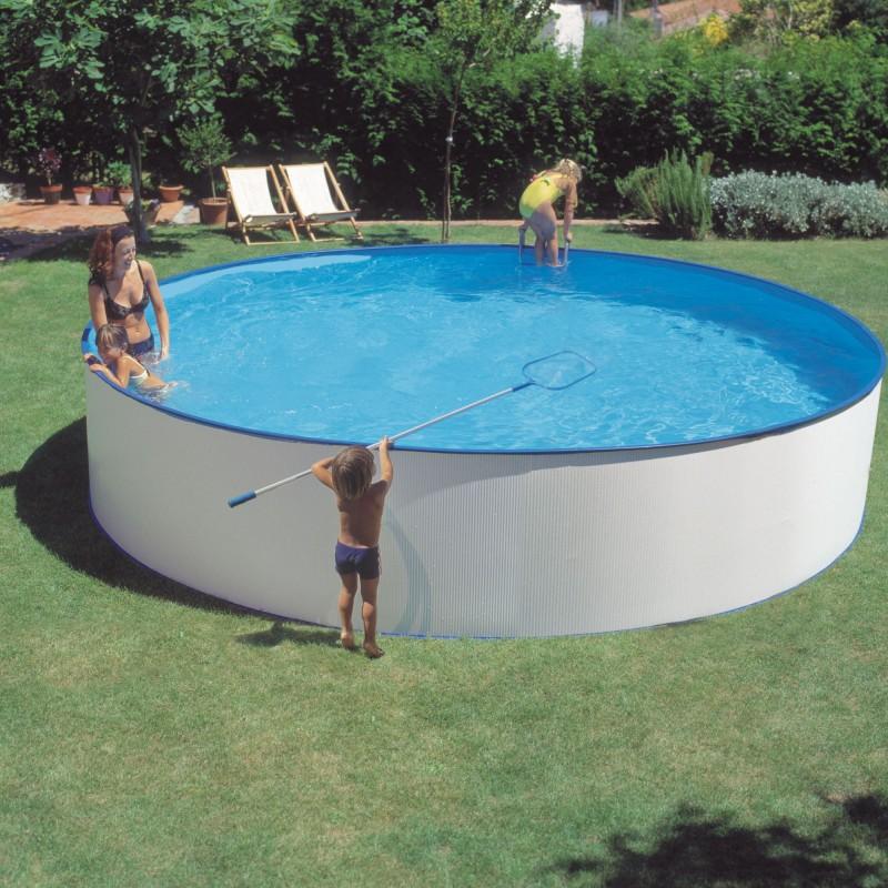 Piscina Splasher 3,50 x 1,20 m y skimmer filtrante 1,7m3/h - KITPR35501
