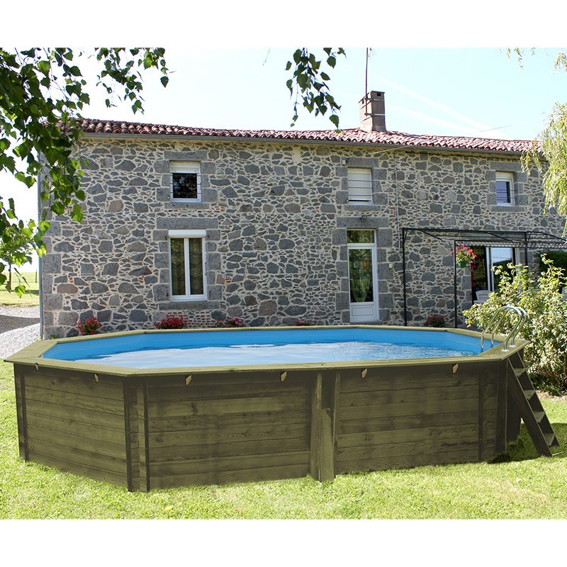 Piscina madera gre cannelle 551x351x119 outlet piscinas for Oulet piscinas