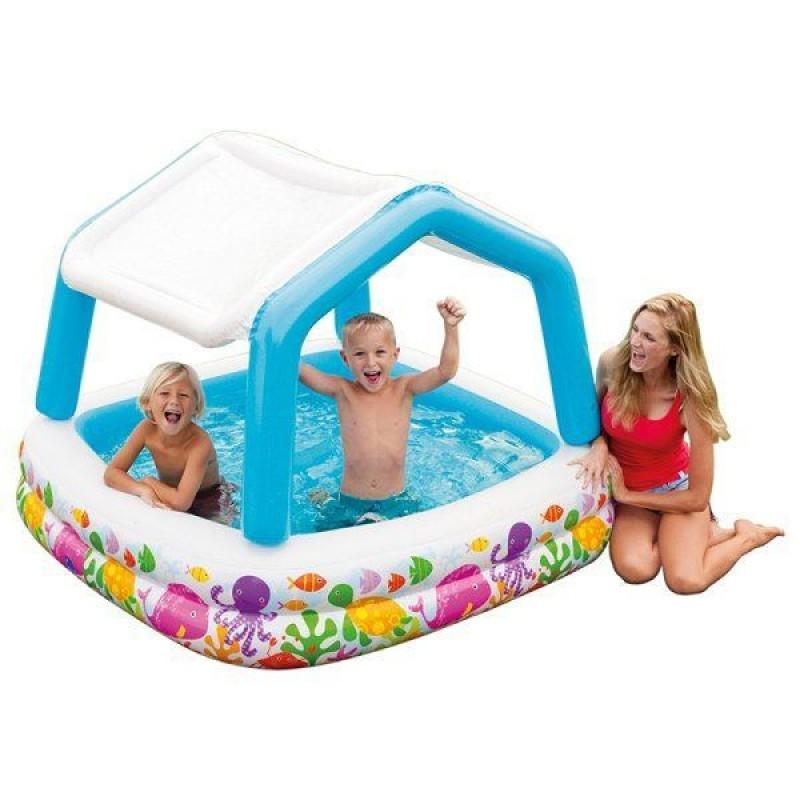 Piscina hinchable con toldo intex outlet piscinas for Piscina hinchable