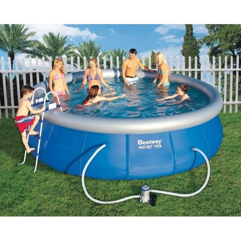 Piscina hinchable bestway fast set 457 outlet piscinas for Piscina hinchable