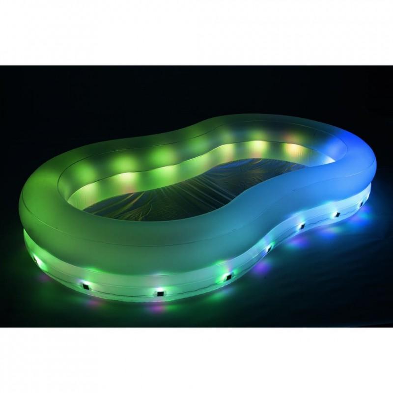 Piscina hinchable iluminación de colores LED Bestway