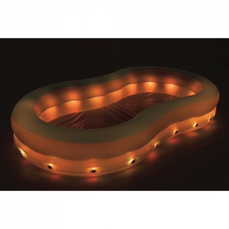 Piscina hinchable luces LED naranja Bestway