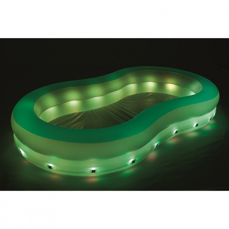 Piscina hinchable luces LED verde Bestway