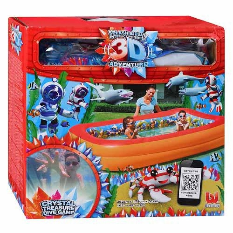 Piscina infantil Aventura 3d-caja