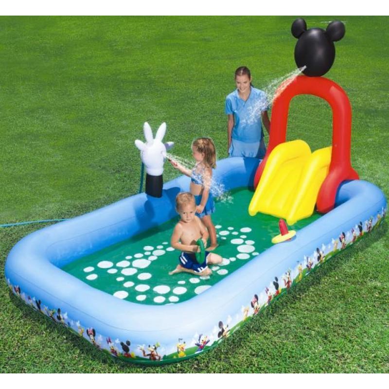 Piscina infantil mickey con tobogan outlet piscinas - Piscina infantil con tobogan ...