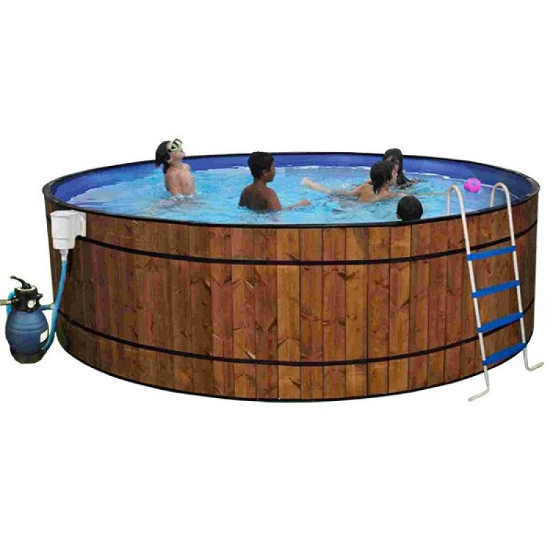 Piscina de madera barrica outlet piscinas for Piscina prefabricada madera