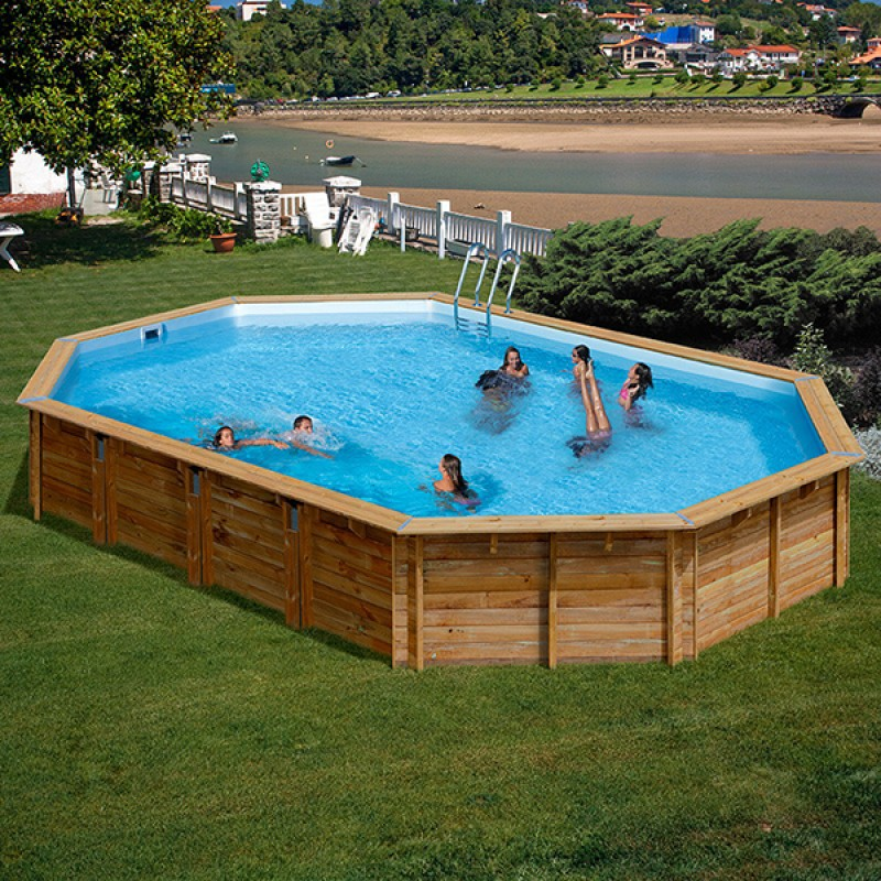 Piscina madera gre avila 786238e outlet piscinas for Oulet piscinas